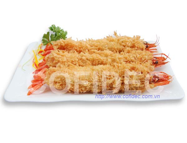 Breaded Black Tiger HOSO Shrimp
