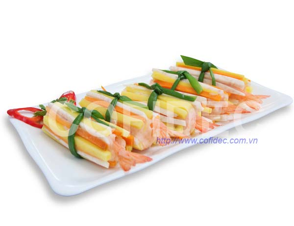 PTO Shrimp rolled by Vegetable Sticks