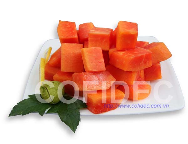 Red Papaya Random cut