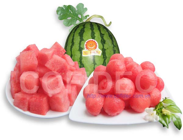 Watermelon Ball & Dice cut