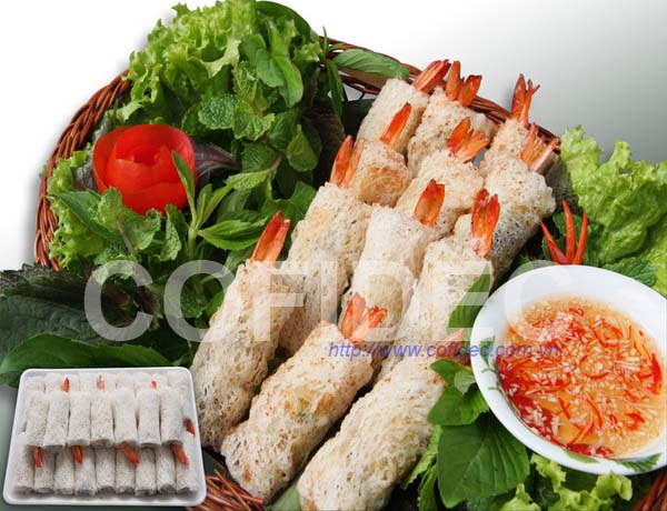 Prawn Net Rice Paper Spring RolL